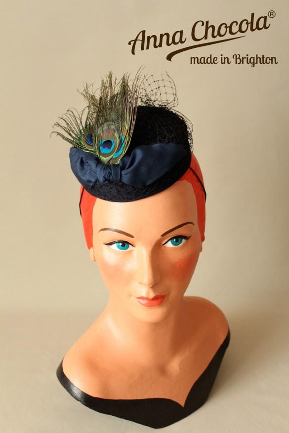 """""""Coquette"""" Burlesque Pillbox Hat - Anna Chocola Brighton"""