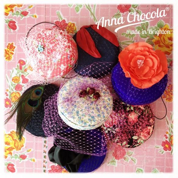 """""""Coquette"""" Burlesque Pillbox Hats - Anna Chocola® Brighton"""