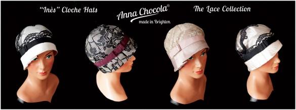"Lace Collection ""Inès"" Cloche Hats - Anna Chocola® 2013"