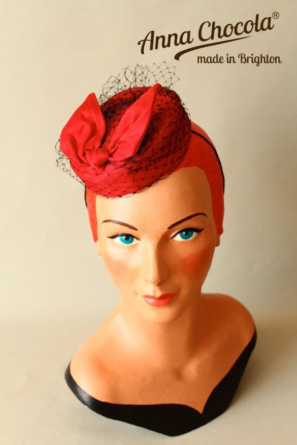 Burlesque Coquette Pillbox Hat - Anna Chocola® Brighton