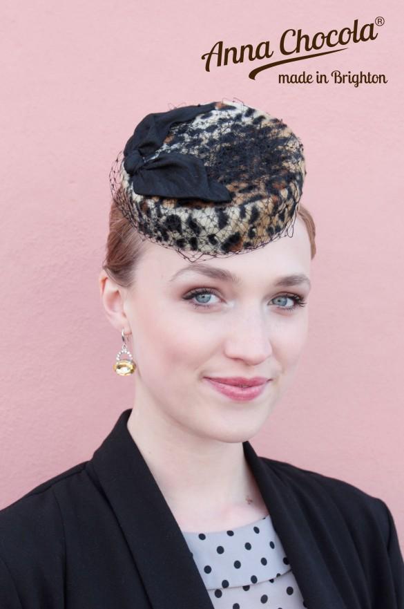 """""""Coquette"""" Burlesque Pillbox Hat - Anna Chocola® 2014"""
